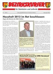 Bezirkskurier Stöckheim/Leiferde Ausgabe 2013-1 - Klaus-Peter ...