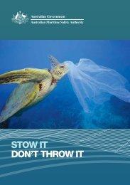 Stow it don't throw it - Australian Maritime Safety Authority
