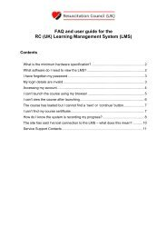 FAQ and user guide for the RC (UK) Learning Management System ...