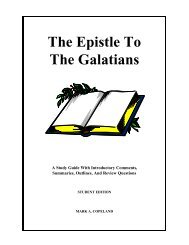The Epistle To The Galatians - Executable Outlines