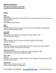 Manfred Becker editor - Manfredbecker.com