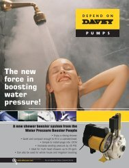 DEPENDON PUMPS The new force in boosting water pressure!