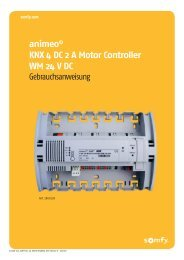 animeo © KNX 4 DC 2 A Motor Controller WM 24 V DC - Somfy KNX