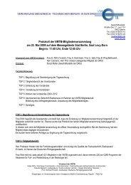 Protokoll der VMTB-Mitgliederversammlung am 22. Mai 2009 auf ...