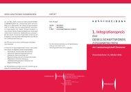 1. Integrationspreis - Hannover.de