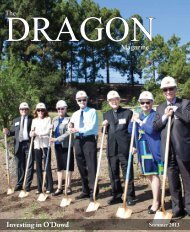 download the Dragon magazine - Bishop O'Dowd High School