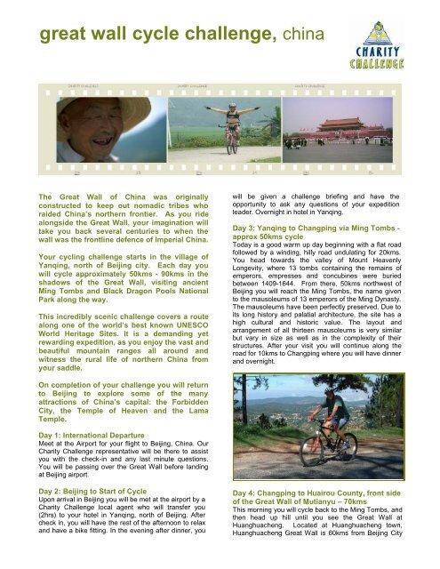 great wall cycle challenge, china - Aspire