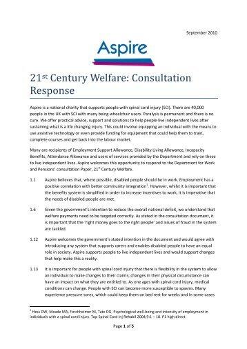 21st century welfare