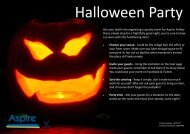 Get your teeth into organising a spooky event for Aspire. Follow ...