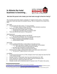 In Atlanta the hotel business is booming… - Hotel Workers Rising