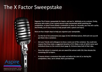 The X Factor Sweepstake - Aspire