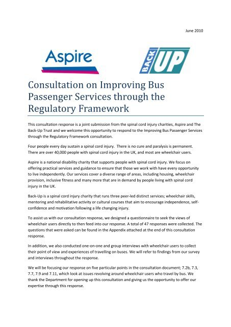 Osers Issues New Guidance Concerning >> Consultation On Improving Bus Passenger Services Through
