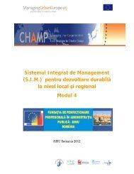 Sistemul Integrat de Management (S.I.M.) pentru dezvoltare durabilă ...