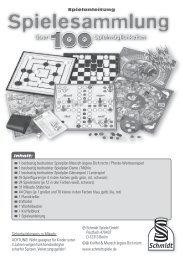 Spielanleitung Inhalt: 1 beidseitig bedruckter ... - Schmidt Spiele