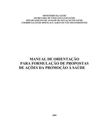 Instrutivo de orientações para projetos - Portaria 139/2009