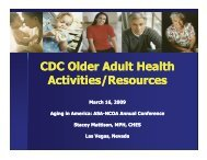 CDC Older Adult Health CDC Older Adult Health Activities ... - CAPSIL