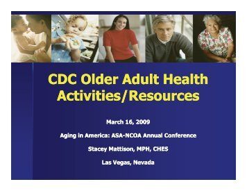 CDC Older Adult Health CDC Older Adult Health Activities ... - CAPSIL