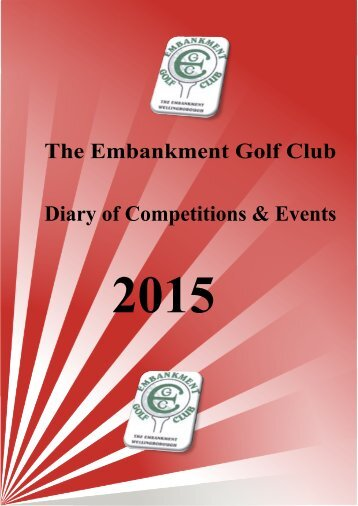 Diary of Competitions and Events 2015