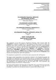 EURO 18,000,000,000 Debt Issuance Programme - Volkswagen ...