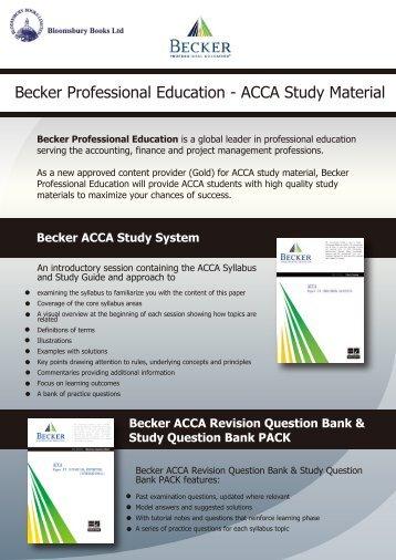 Becker ACCA Study System - Bloomsbury Books Ltd