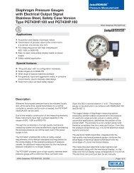 intelliGAUGE Diaphragm Pressure Gauges Stainless Steel, Safety ...