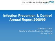Infection Prevention and Control Trust Board presentation July 2009