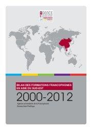 bilan des formations francophones en asie du sud-est - AUF