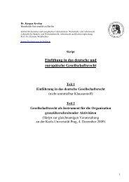 Einfühung in das deutsche und europäische Gesellschaftsrecht