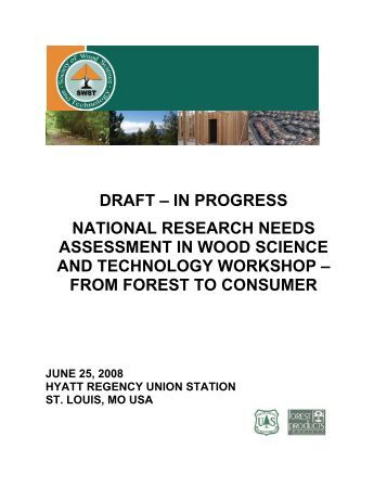 from forest to consumer - Society of Wood Science and Technology