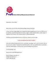 Rotterdam, 29 mei 2012 Beste leden van de PvdA onderafdeling ...
