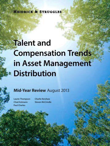 Talent and Compensation Trends in Asset Management Distribution