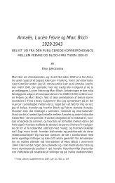 Annales, Lucien Febvre og Marc Bloch 1929-1943 - Historisk Tidsskrift
