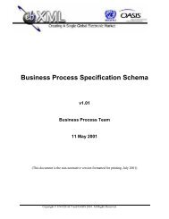 Business Process Specification Schema - ebXML