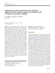 Application of a serial extended forecast experiment using - Georgia ...
