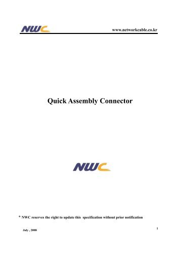 (Microsoft PowerPoint - Quick Assembly Connector ... - Yateley.net