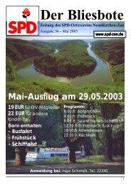 Der Bliesbote - SPD Zoo