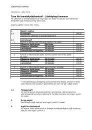 Taxa för brandskyddskontroll – Jönköpings kommun