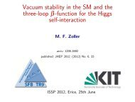 Vacuum stability in the SM and the three loop -function for the Higgs ...