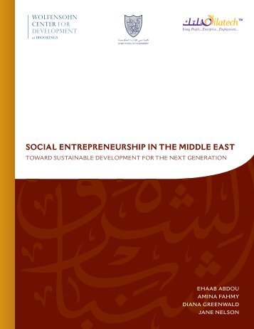 Social Entrepreneurship in the Middle East - Brookings Institution