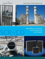 High-Efficiency Emissions Control Systems for Gas Turbines