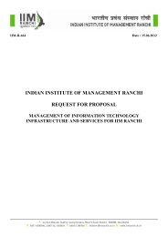 indian institute of management ranchi request for ... - IIM Ranchi