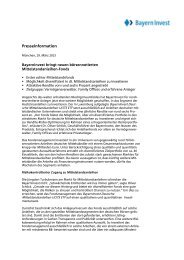 BayernInvest bringt neuen börsennotierten Mittelstandanleihen-Fonds