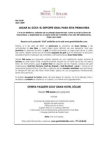 JUGAR AL GOLF: EL DEPORTE IDEAL PARA ... - Gran Hotel Sóller