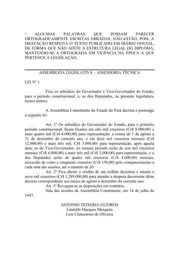 Leiord1947 - Assembléia Legislativa do Estado do Pará - Governo ...