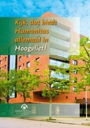 Regiobrochure Humanitas-Hoogvliet - Stichting Humanitas