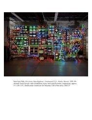 Nam June Paik, Electronic Superhighway - Smithsonian Education ...