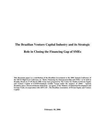 The Brazilian VC Industry and its Strategic Role in Closing the ...