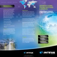 ADVANCED GLOBAL TESTING SOLUTIONS ... - Inteva Products
