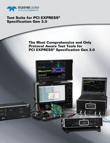 Test Suite for PCI Express Specification Gen 3.0 ... - Teledyne LeCroy