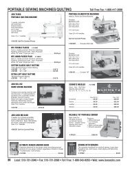 PORTABLE SEWING MACHINES/QUILTING - Banasch's